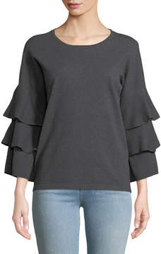 Cynthia Steffe Cece By Ruffle-Tiered Sleeve Sweater
