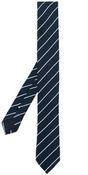 Eleventy striped skinny belt