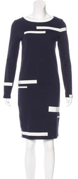 Band Of Outsiders Zip-Accented Long Sleeve Dress