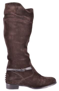 Car Shoe Women's Brown Suede Ankle Boots.