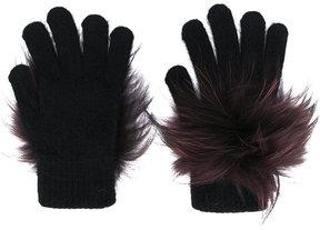 Yves Salomon fluffy gloves