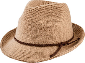 San Diego Hat Company Knit Fedora with Faux Suede Band CTH8071 (Women's)