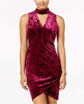 B. Darlin Juniors' Crushed Velvet Bodycon Dress, A Macy's Exclusive Style