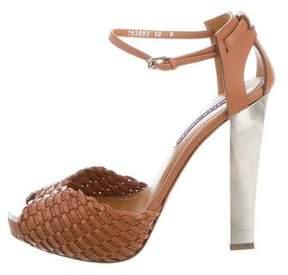 Ralph Lauren Purple Label Braided Platform Sandals