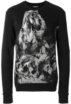 Balmain horse print sweatshirt