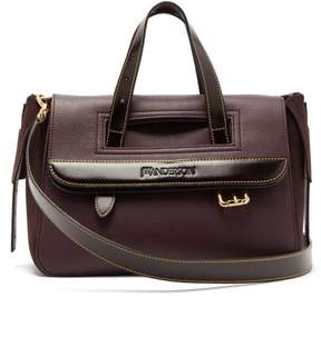 J.W.Anderson Tool Mini Suede And Leather Shoulder Bag - Womens - Burgundy