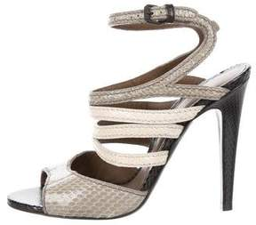 Bottega Veneta Embossed Cage Sandals