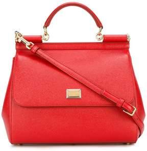 Dolce & Gabbana large Sicily shoulder bag - RED - STYLE