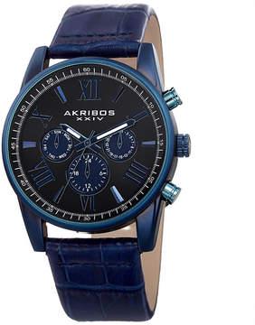 Akribos XXIV Mens Blue Strap Watch-A-911bu