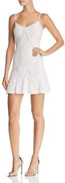Aqua Ruffled Lace Slip Dress - 100% Exclusive