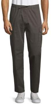 Saks Fifth Avenue BLACK Stretch Cotton Drawstring Pants