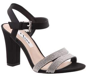 Nina Sylvie Satin Chunky Heel Sandal.