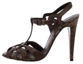 Bottega Veneta Lizard Ankle Strap Sandals