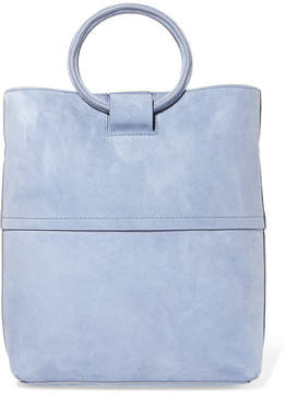 Theory Hoop Mini Suede Tote - Light blue