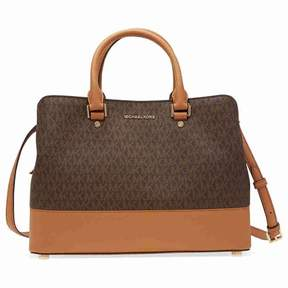 Michael Kors large Savannah Satchel- Brown - BROWNS - STYLE