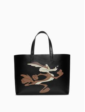 Calvin Klein wile e. coyote east/west soft tote in palmellato leather