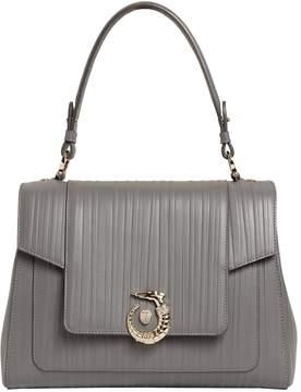 Trussardi Lovy Plisse Leather Top Handle Bag