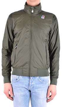K-Way Men's Green Polyamide Outerwear Jacket.