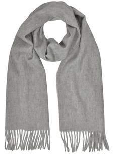 Mila Schon Women's Grey Cashmere Scarf.