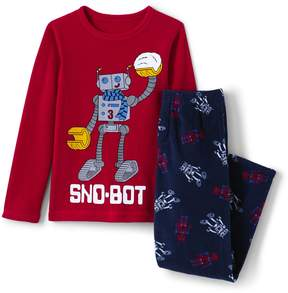 Lands' End Lands'end Boys Fleece Sleep Set