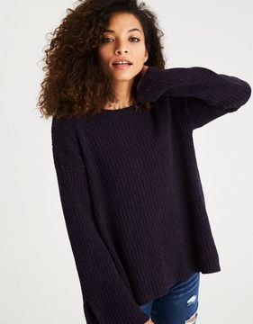 American Eagle Outfitters AE Bell Sleeve Open Back Sweater