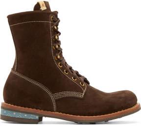 Visvim Brown Suede Brigadier H-Folk Boots