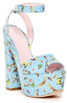 Giambattista Valli Vernice Stampa Butterfly Platform Sandal
