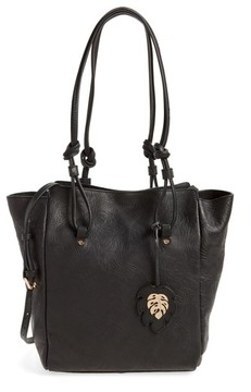 Tommy Bahama Embossed Leather Tote - Black