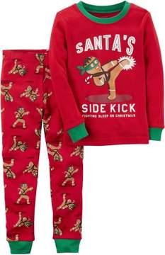 Carter's Little Boys Santa's Sidekick Pajama Set