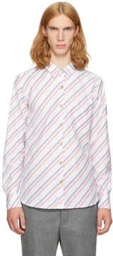 Moncler Gamme Bleu White Diagonal Shirt
