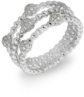 Bony Levy Women's Pave Ball Bead Three-Row Diamond Ring (Nordstrom Exclusive)
