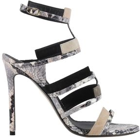 Grey Mer Heeled Sandals Shoes Women