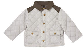 Marie Chantal Baby Boy Mini Waterproof Riding Jacket - Pale Grey