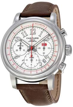 Chopard Mille Miglia Chronograph White Dial Brown Leather Men's Watch