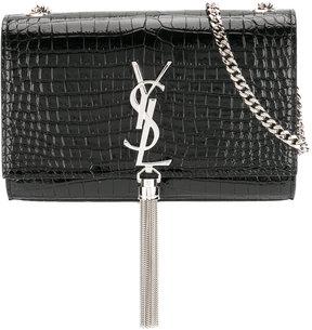 Saint Laurent crocodile embossed Kate tassel chain wallet