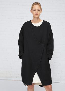 Black Crane Black Dual Canvas Coat