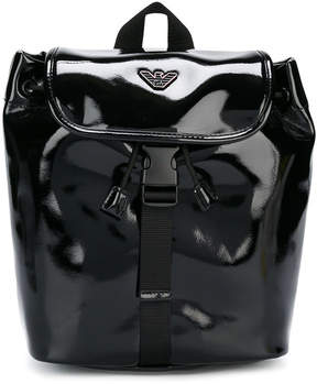 Armani Junior patent backpack
