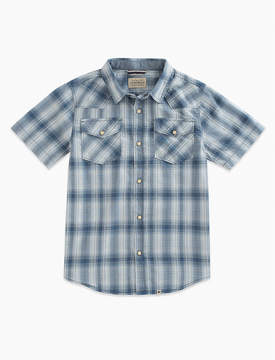 Lucky Brand Short Sleeve Western Plaid Shirt