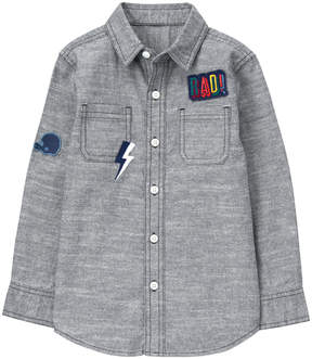 Gymboree Chambray Patch-Accent Button-Up - Boys