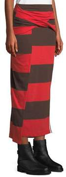 3.1 Phillip Lim Striped Maxi-Length Wrap Skirt