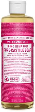 Dr. Bronner's Organic Rose Castile Liquid Soap by 16oz Liquid Soap)