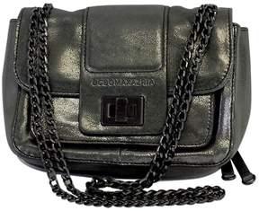 BCBG Max Azria Grey Metallic Sheen Small Crossbody Bag