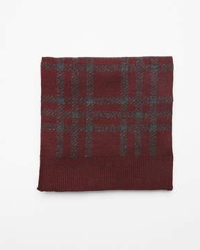 Express Plaid Merino Wool Blend Scarf