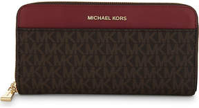 MICHAEL Michael Kors Money Pieces leather continental wallet - BRN/MULBRY - STYLE