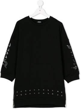 Diesel studded sweatshirt dress