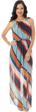 Apt. 9 Women's Striped Chiffon Maxi Dress