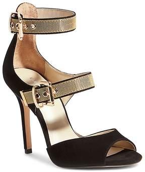 Karen Millen Women's Double Buckle Suede Sandals