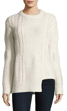 Calvin Klein Jeans Notch-Hem Cable-Knit Sweater
