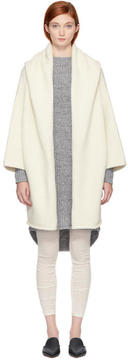 LAUREN MANOOGIAN White Capote Hooded Cardigan