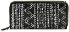 Women's Geometric Wallet -Black/White Geometric